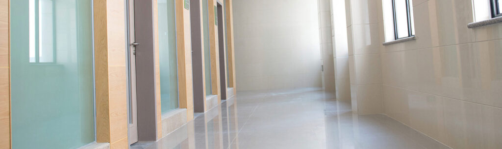 hallway clinical building